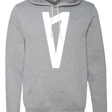 Lauv V Logo Pullover Hoodie (Athletic Grey)
