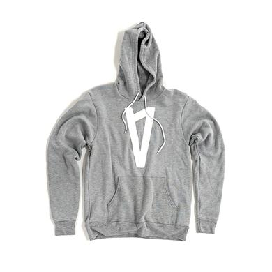 Lauv V Logo Pullover Hoodie (Athletic Grey)