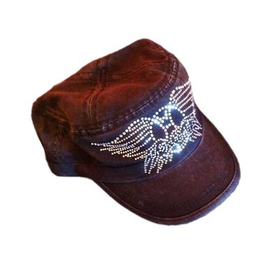 Aerosmith Women's Military-Style Bling Cadet Cap