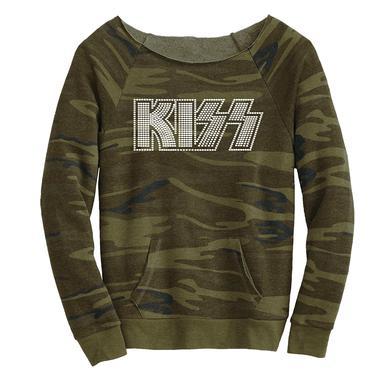 Kiss Bling Army Camo Slouchy Fleece