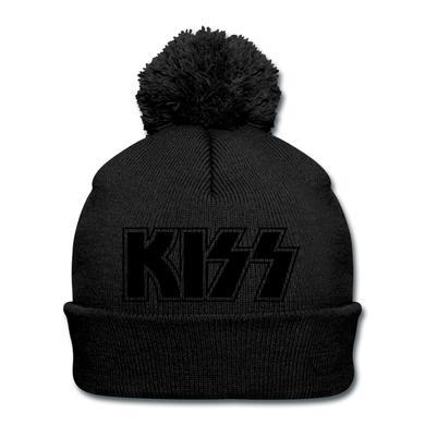 Kiss Black on Black (Pom Beanie)