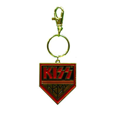 Kiss Army Gold Keychain