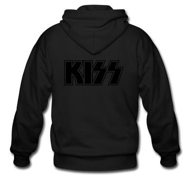 Kiss Black on Black (zip hoodie)