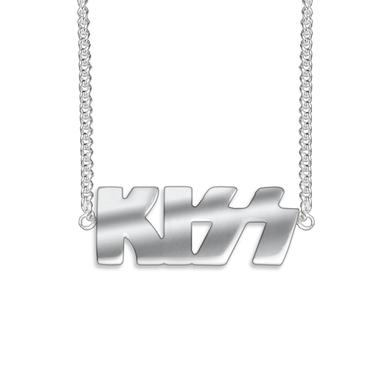 Kiss Silver Logo Necklace