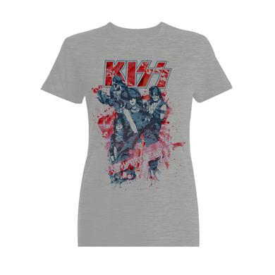 KISSWorld Ladies Grey with Red Shiny Letters