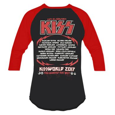 KISSWorld You Wanted The Best Raglan