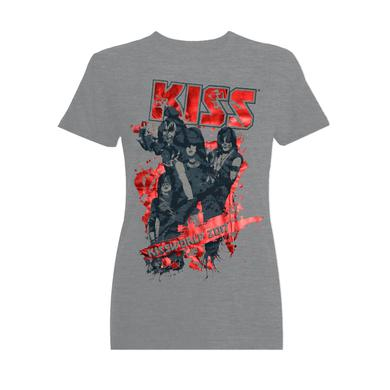 KISSWorld Ladies Grey with Red Shiny Letters (German Logo)