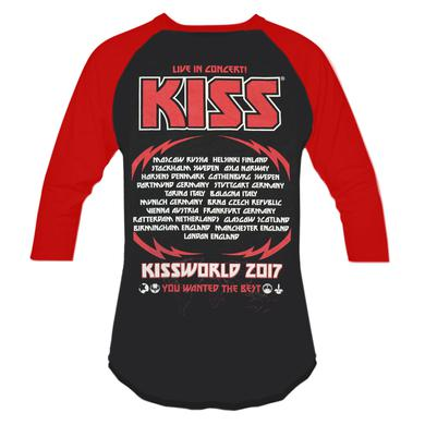 KISSWorld You Wanted The Best Raglan (German Logo)