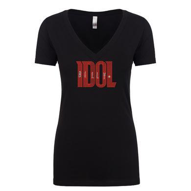 Billy Idol Ladies Sporty Bling V-Neck