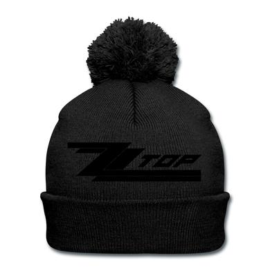 ZZ Top Black on Black (pom beanie)