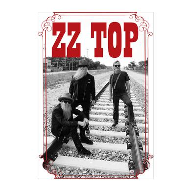 ZZ Top On The Tracks Poster