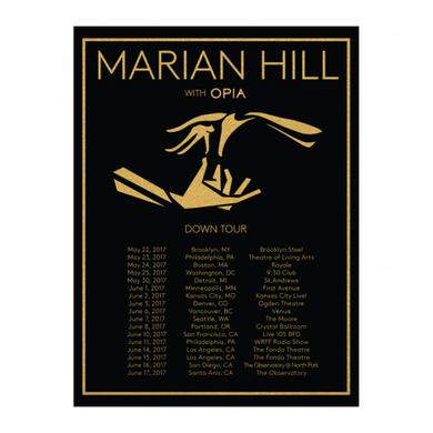 Marian Hill 2017 Down Tour Poster