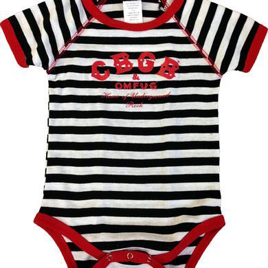 CBGB Baby Classic Logo Striped Onesie