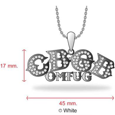 CBGB Sterling Silver Swarovski Pendant