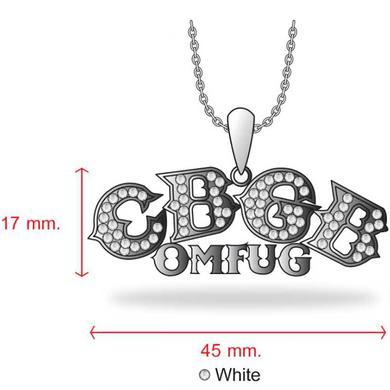 CBGB Austrian Crystal Pendant