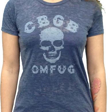 CBGB Women's Skull Blue Burnout