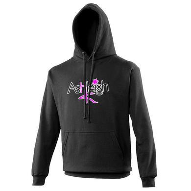 Ashleigh K Pink Logo Unisex Black Hoody