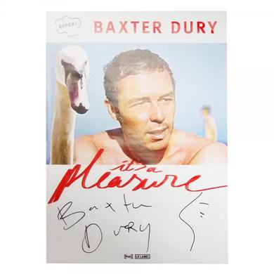 Baxter Dury It's A Pleasure Signed Poster