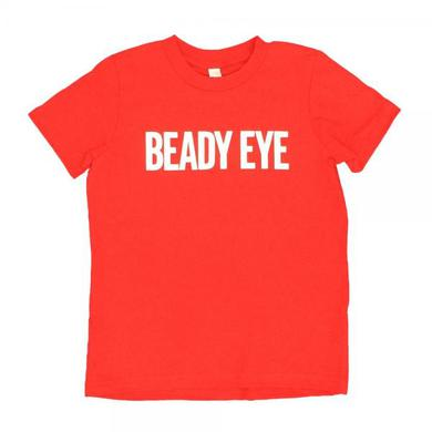 Beady Eye Red kids t-shirt with white BE logo print