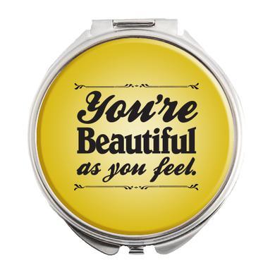 Beautiful In London Logo Compact Mirror