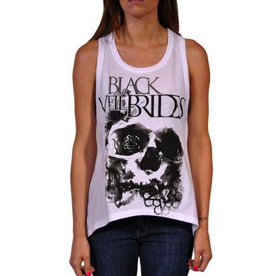 Black Veil Brides Skullogram Custom Girls Tank