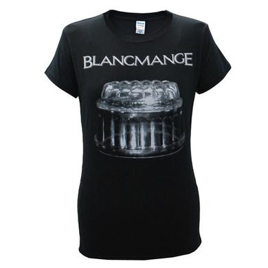 Blancmange Ladies Black Blank Glass T-Shirt