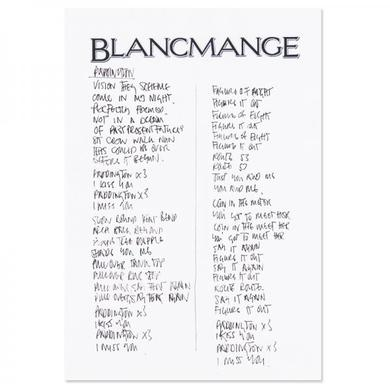 Blancmange Signed Handwritten Lyrics Sheet