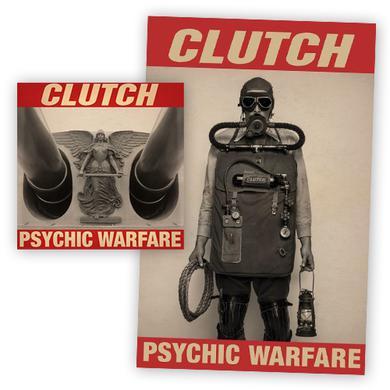 Clutch Psychic Warfare Blue Vinyl LP + Poster LP