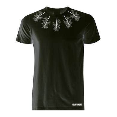 Courteeners Neckline Trees Black T-Shirt
