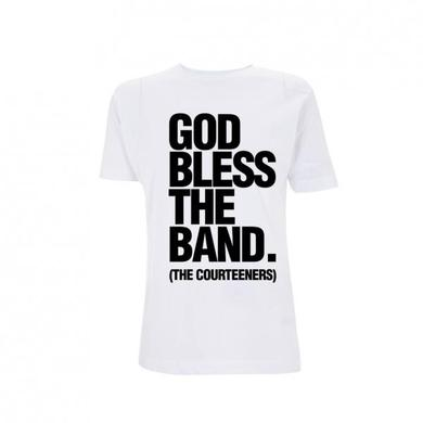 Courteeners God Bless The Band White Ladies T-Shirt