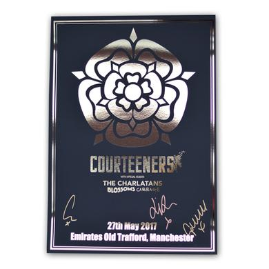 Courteeners Signed A3 Old Trafford Gold Foil Art Print