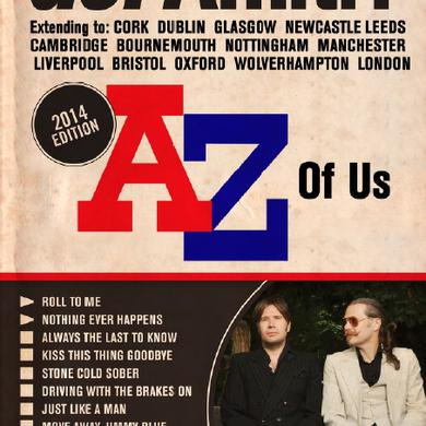 Del Amitri The A-Z Of Us 2014 Tour Programme