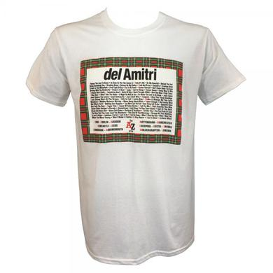 Del Amitri The A-Z Of Us 2014 White Tour T-Shirt