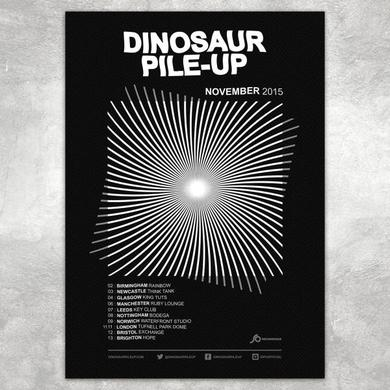 Dinosaur Pile-Up Eleven Eleven Tour Poster