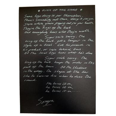Echobelly Handwritten, Signed  Lyric Sheet