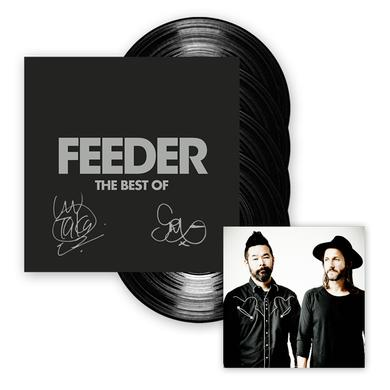 Feeder The Best Of 4LP Vinyl Hardback Book Album (Signed) Boxset
