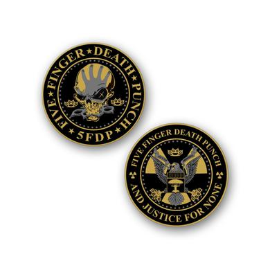 Five Finger Death Punch Challenge Coin