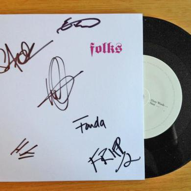 Folks Dirty Words b/w Nest Limited Edition 7 Signed 7 Inch
