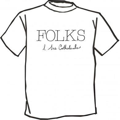 Folks I see Cathedrals T-Shirt - White