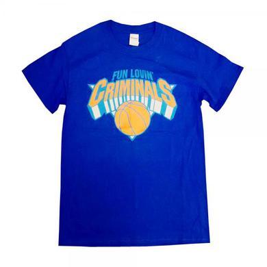 Fun Lovin Criminals Blue Basketball T-Shirt