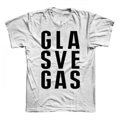 Glasvegas White FWA Stacked Logo T-Shirt
