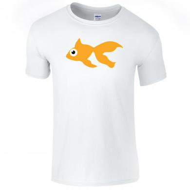 Goldfish Blinky Tee - Orange / Natural White