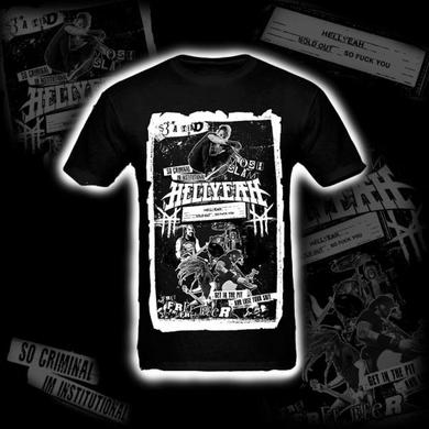Hellyeah 2015 Official Collage Black T-Shirt