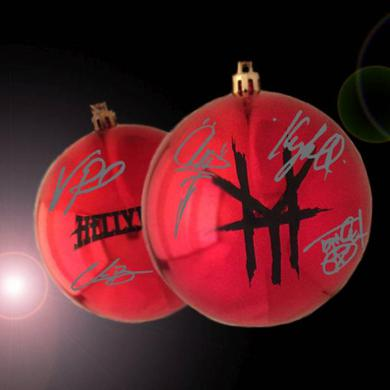 Hellyeah Exclusive Band Signed Christmas Ornament.