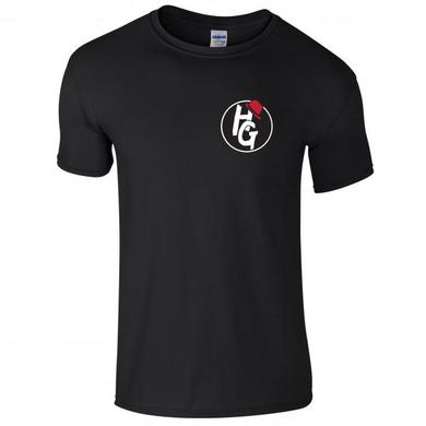 Henry Gallagher Black Small Round Logo T-Shirt