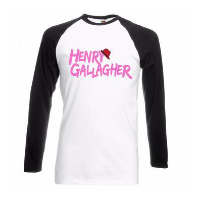 Henry Gallagher White/Black Pink Text Raglan