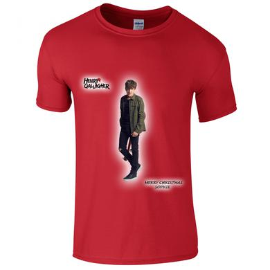 Henry Gallagher Red Christmas Customizable 'Name' T-Shirt