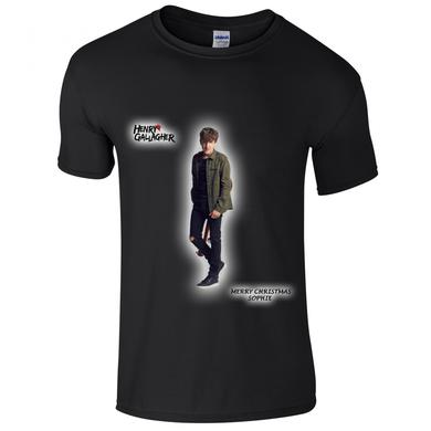 Henry Gallagher Black Christmas Customizable 'Name' T-Shirt