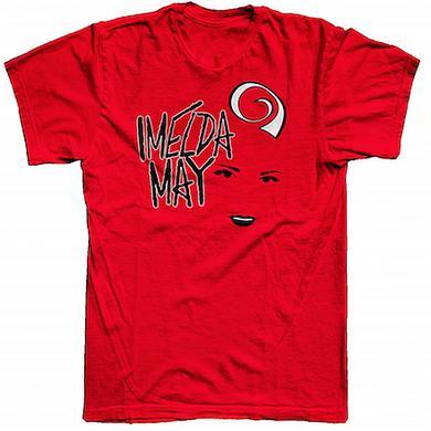 Imelda May Red 'Black Face Logo' Ladies T-Shirt