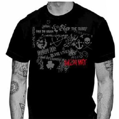 Imelda May Black Tribal Tour Mens T-Shirt